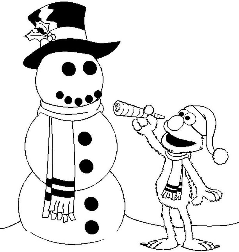 Coloring Pages Of A Snowman