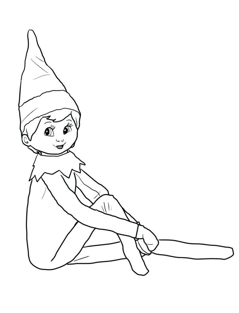 Coloring Pages Of An Elf