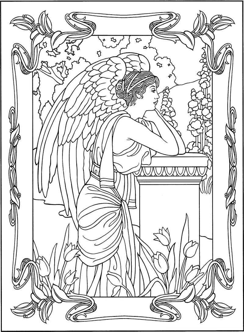 Coloring Pages Of Angel Wings