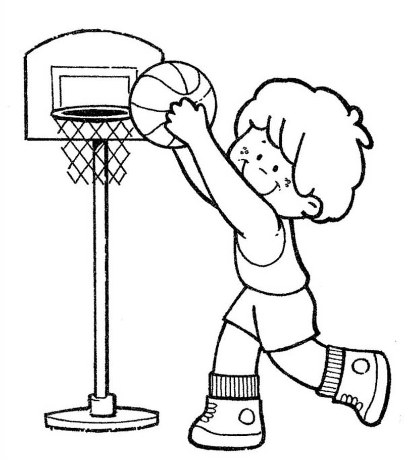 Coloring Pages Of Basketball Players Of The Nba