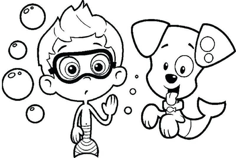 Coloring Pages Of Bubble Guppies