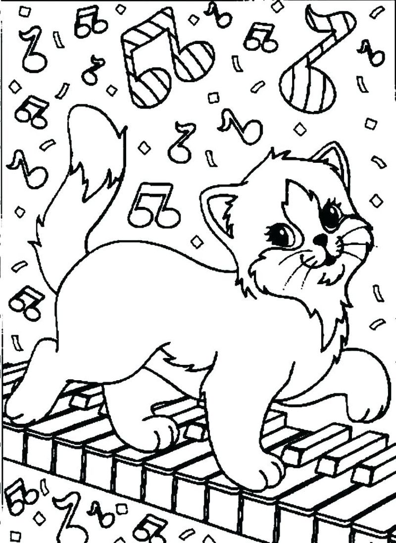 Coloring Pages Of Cats For Toddlers