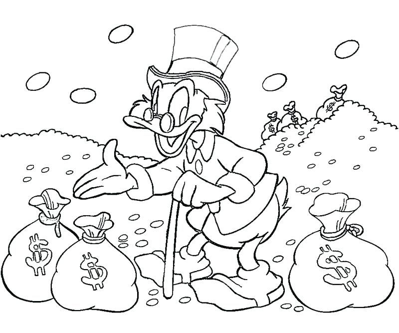 Coloring Pages Of Donald Duck