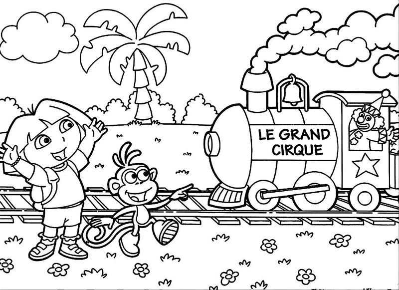 Coloring Pages Of Dora To Print
