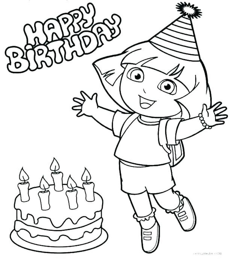 Coloring Pages Of Dora