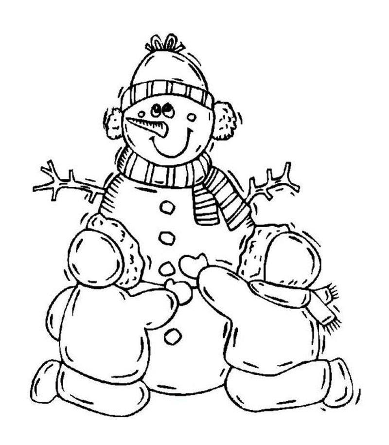 Coloring Pages Of Frosty The Snowman