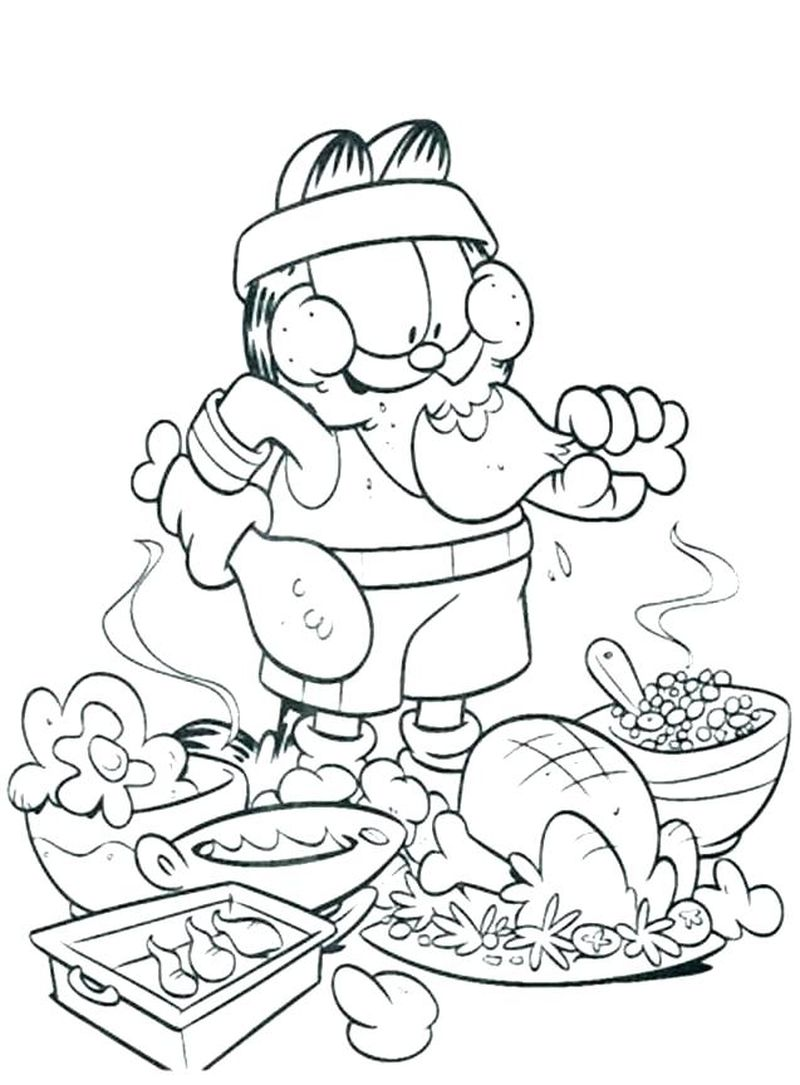 Coloring Pages Of Garfield