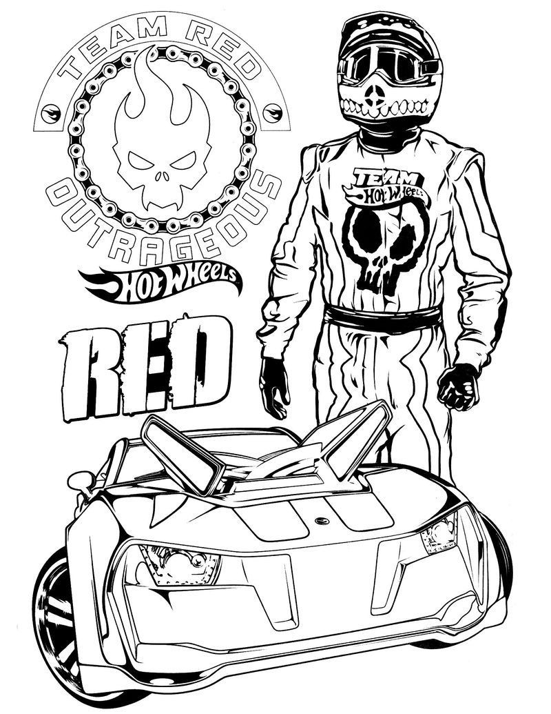 Coloring Pages Of Hot Wheels Cars