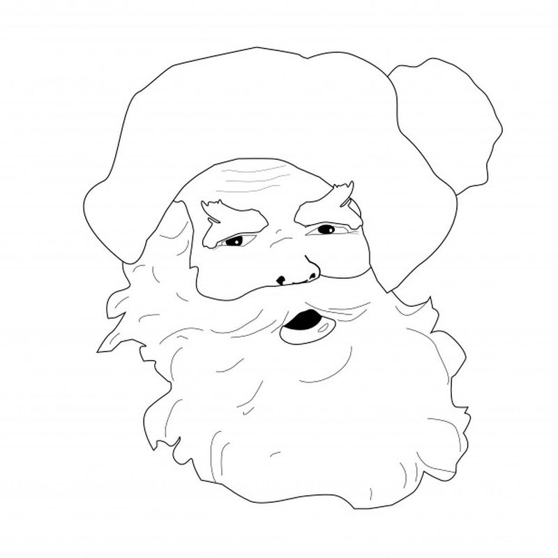 Coloring Pages Of Santa Claus And His Reindeer