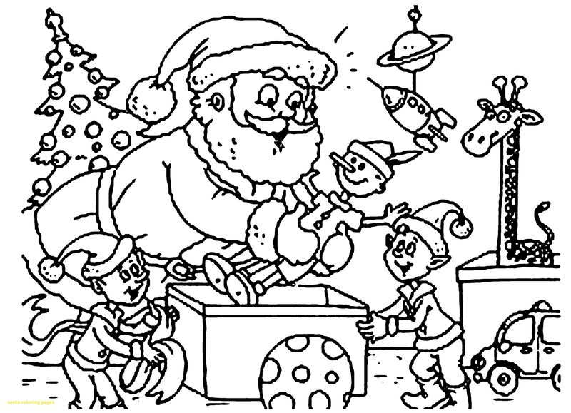 Coloring Pages Of Santa Claus And Reindeer
