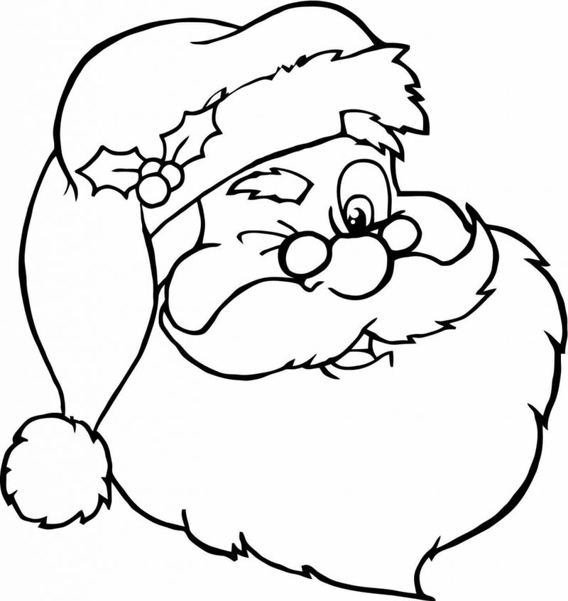 Coloring Pages Of Santa Claus Seigh