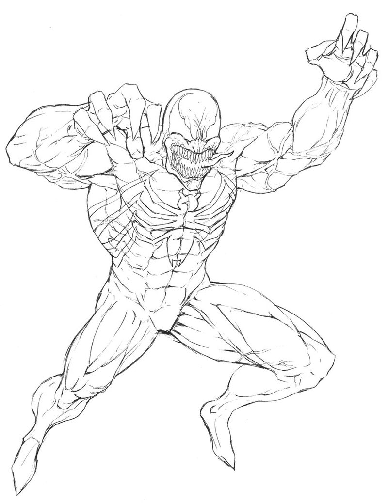 Coloring Pages Of Spiderman And Venom