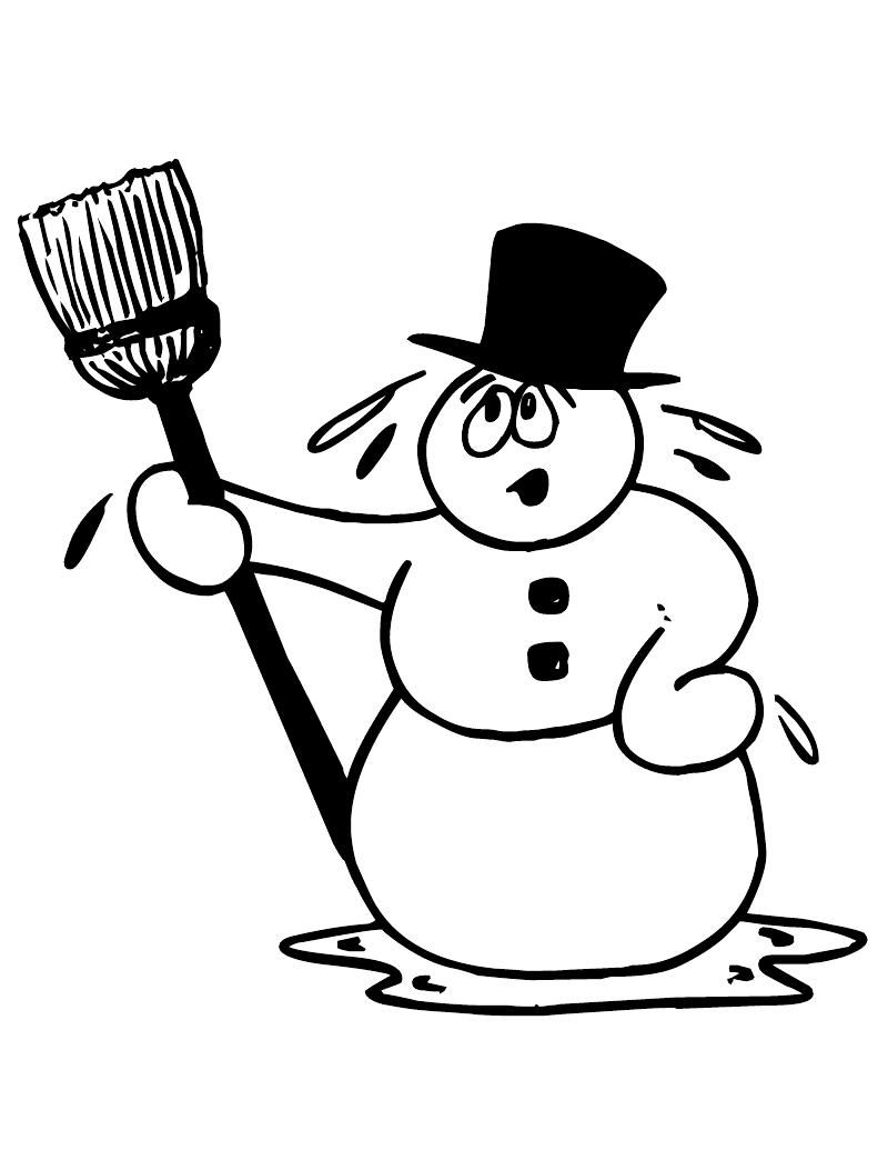 Coloring Pages Picture Of Snowman