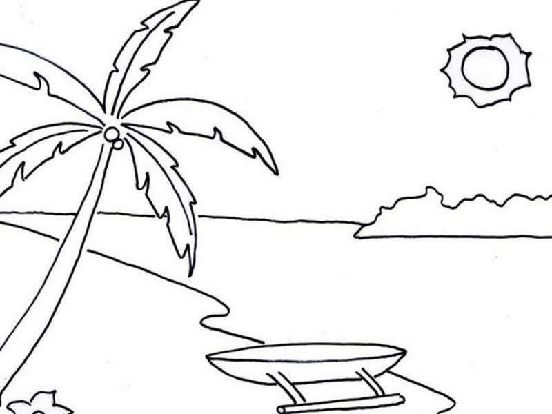Coloring Pages Sea And Beach