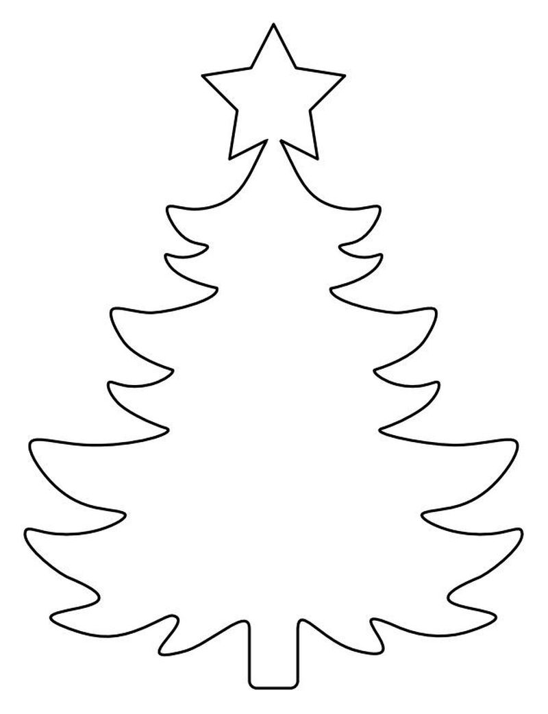 Coloring Pages That Say Merry Christmas With A Tree