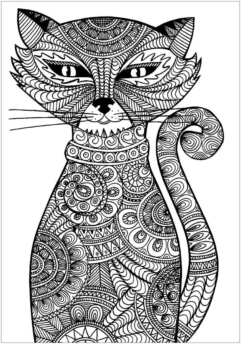 Colouring Pages Cats And Dogs