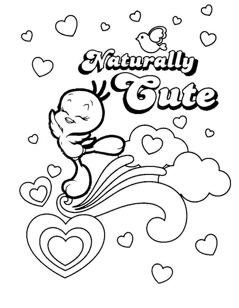 Colouring Pages Of Tweety
