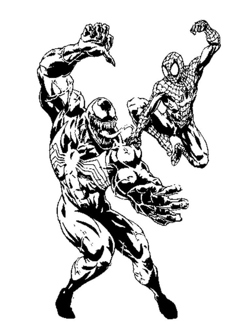Colouring Pages Of Venom