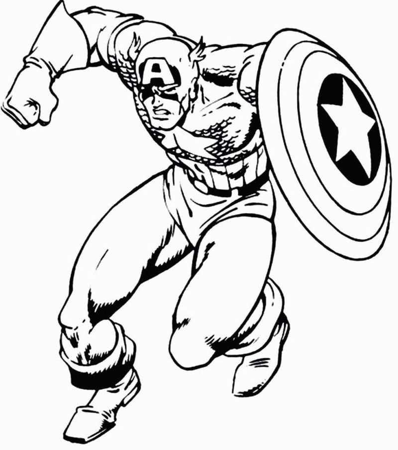 Comicon Family Captain America Coloring Pages