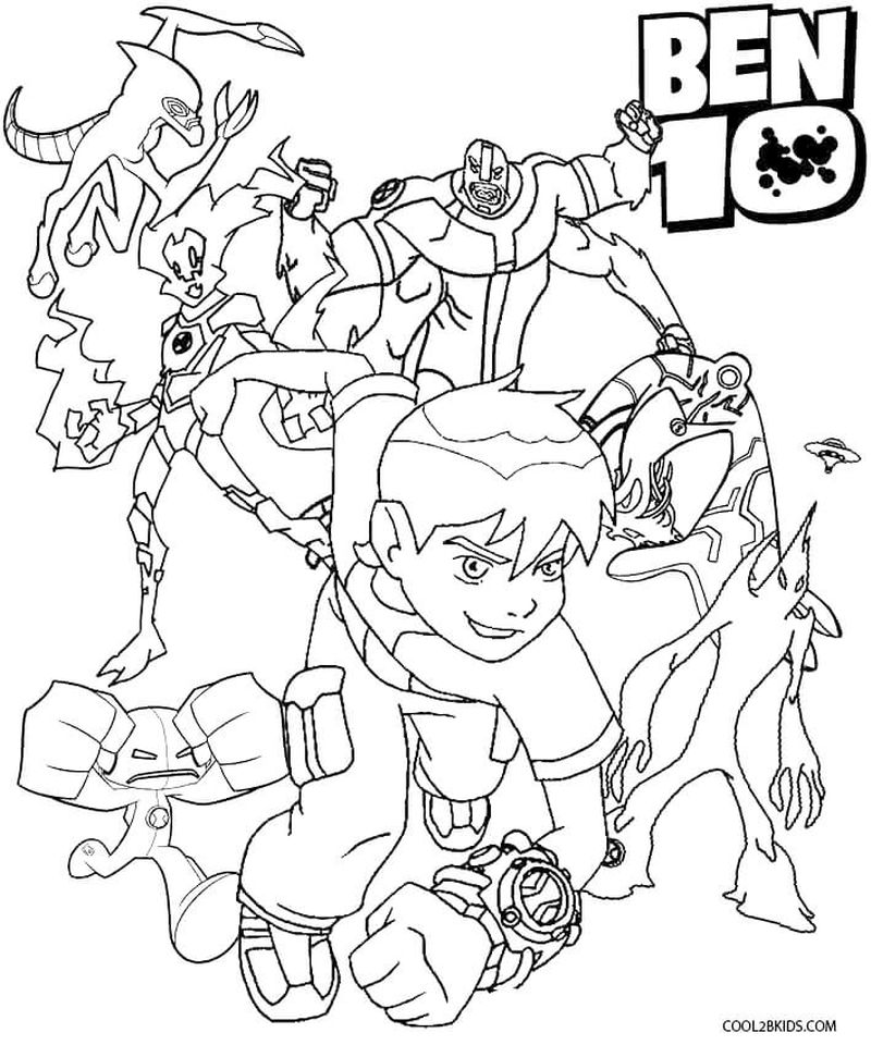 Cool Ben 10 Coloring Pages