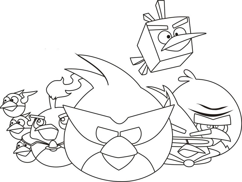 Cool Coloring Pages Angry Birds