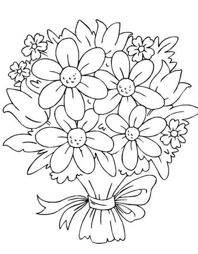 Cool Flowers Coloring Pages