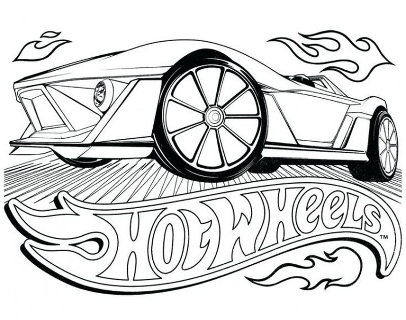 Cool Hot Wheels Coloring Pages