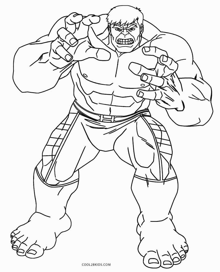 Cool Hulk Coloring Pages