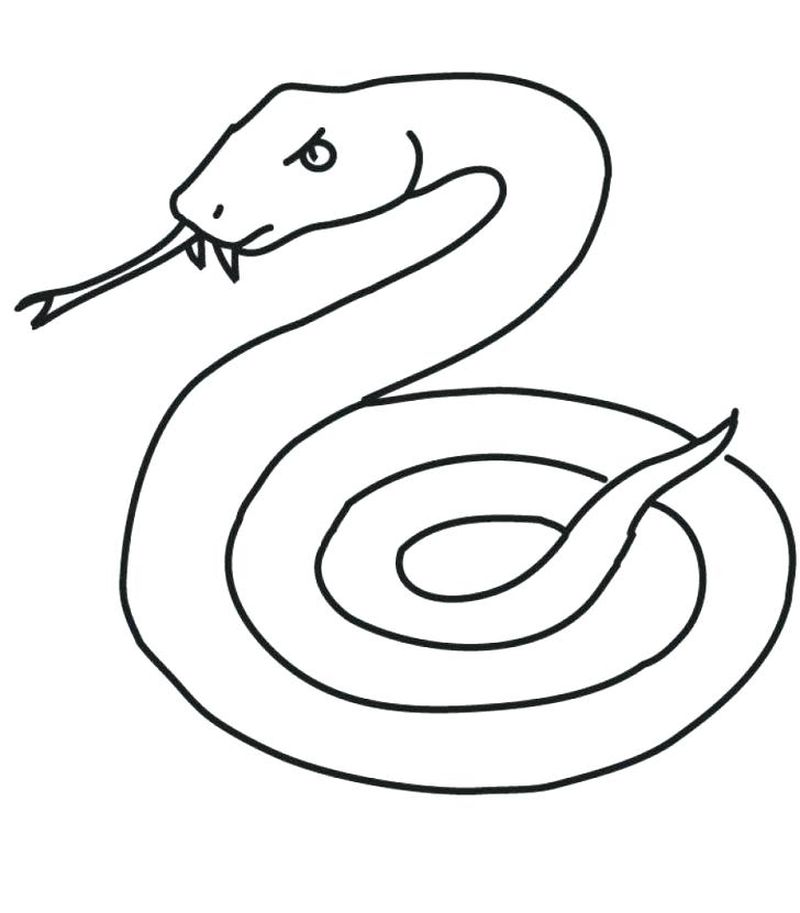 Copperhead Snake Coloring Page