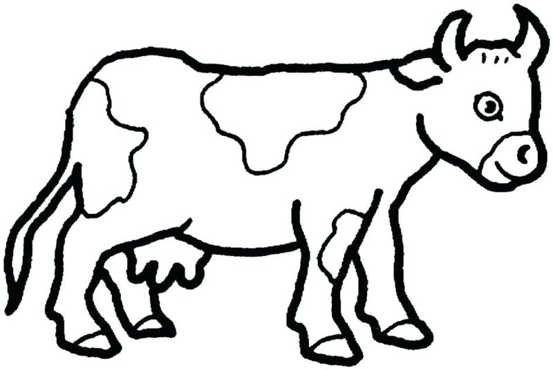 Cow Cartoon Coloring Pages