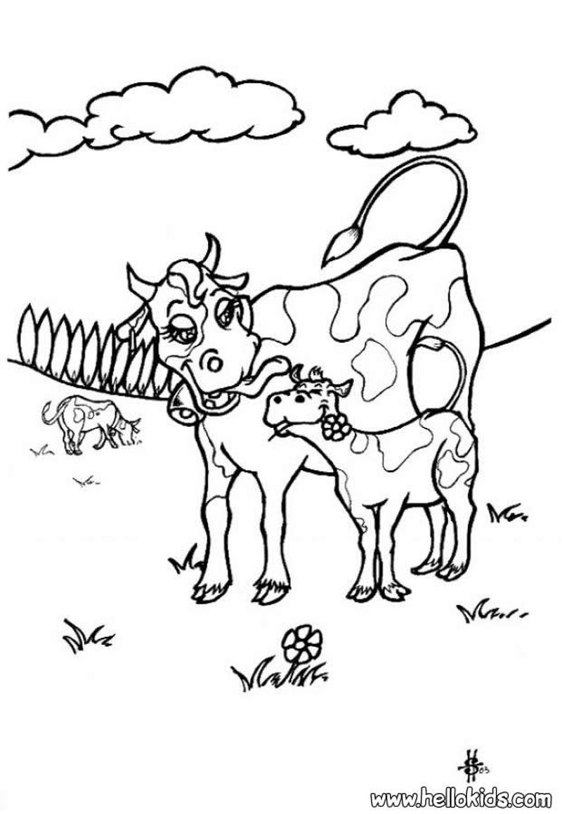 Cow Coloring Pages Cartoon