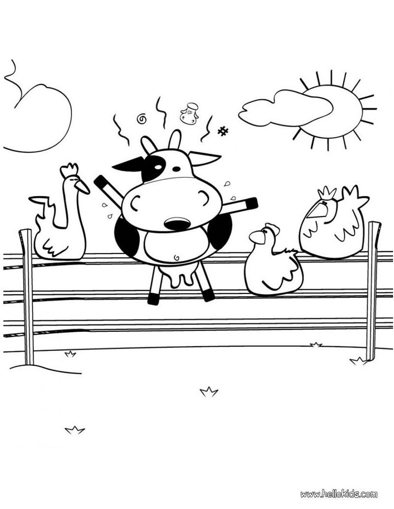 Cow Coloring Pages For Young Kids