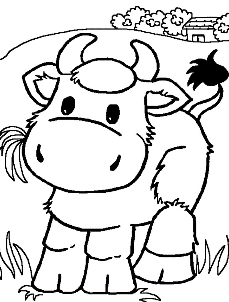 Cow Print Out Coloring Pages