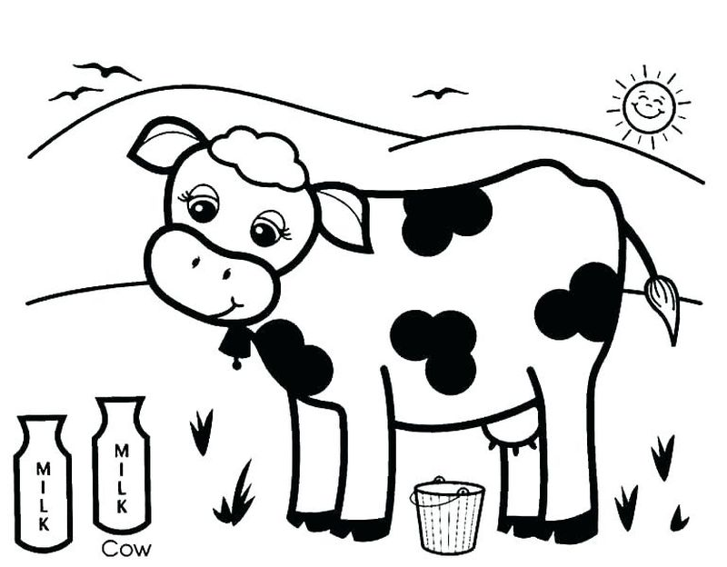 Cow Says Moo Coloring Pages