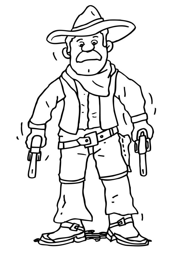 Cowboy And Indian Coloring Pages Free