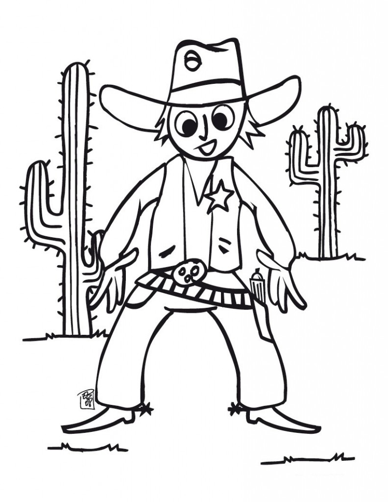 Cowboy And Indian Coloring Pages