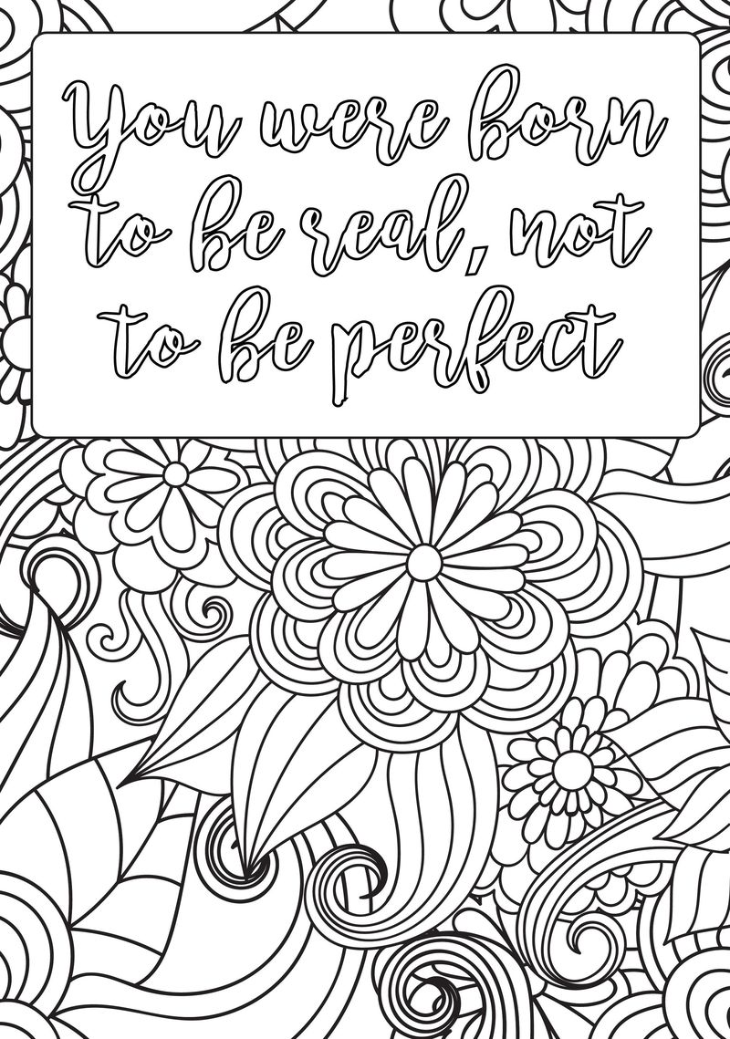 Creative Quotes Coloring Book Pages Colored