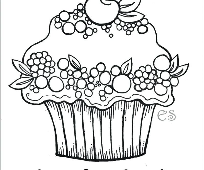 Cupcake Adult Coloring Pages