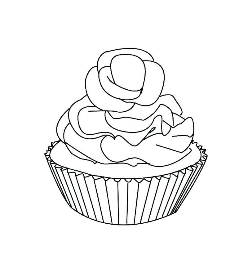 Cupcake And Cake Coloring Pages