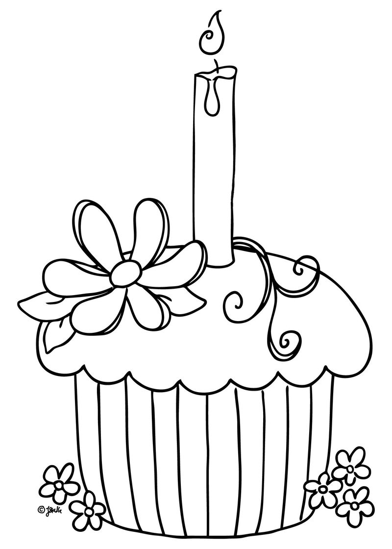 Cupcake And Ice Cream Coloring Pages