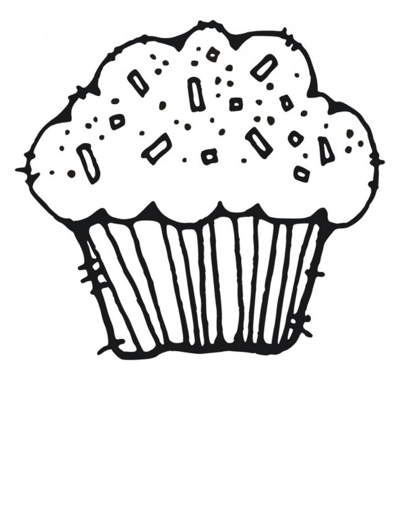 Cupcake Birthday Coloring Pages