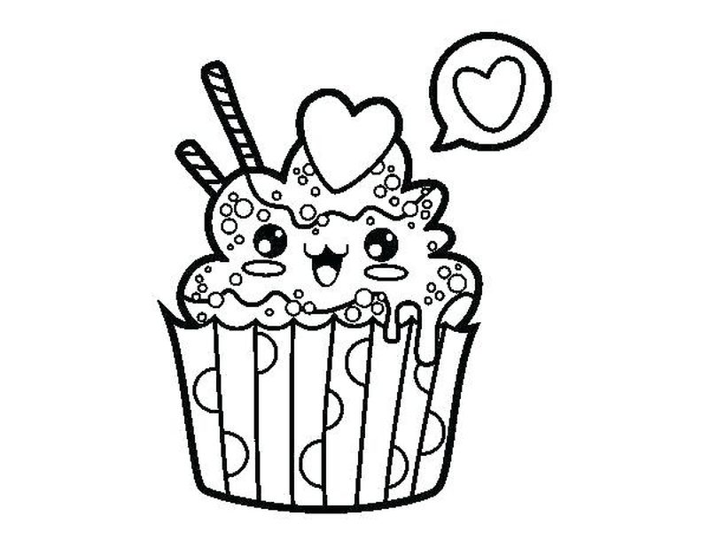 Cupcake Brunch Coloring Pages