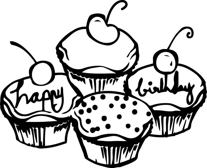 Cupcake Coloring Pages Mix