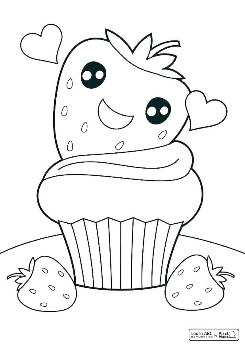 Cupcake Coloring Pages Online