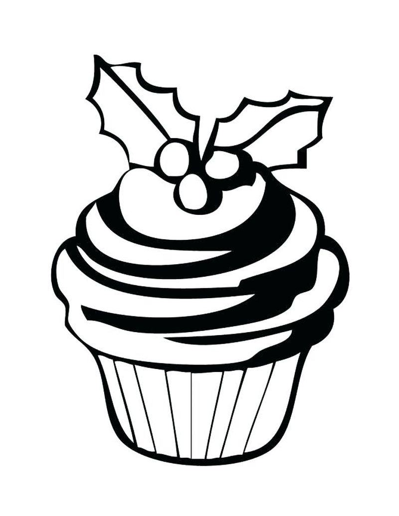 Cupcake Coloring Pages With Faces