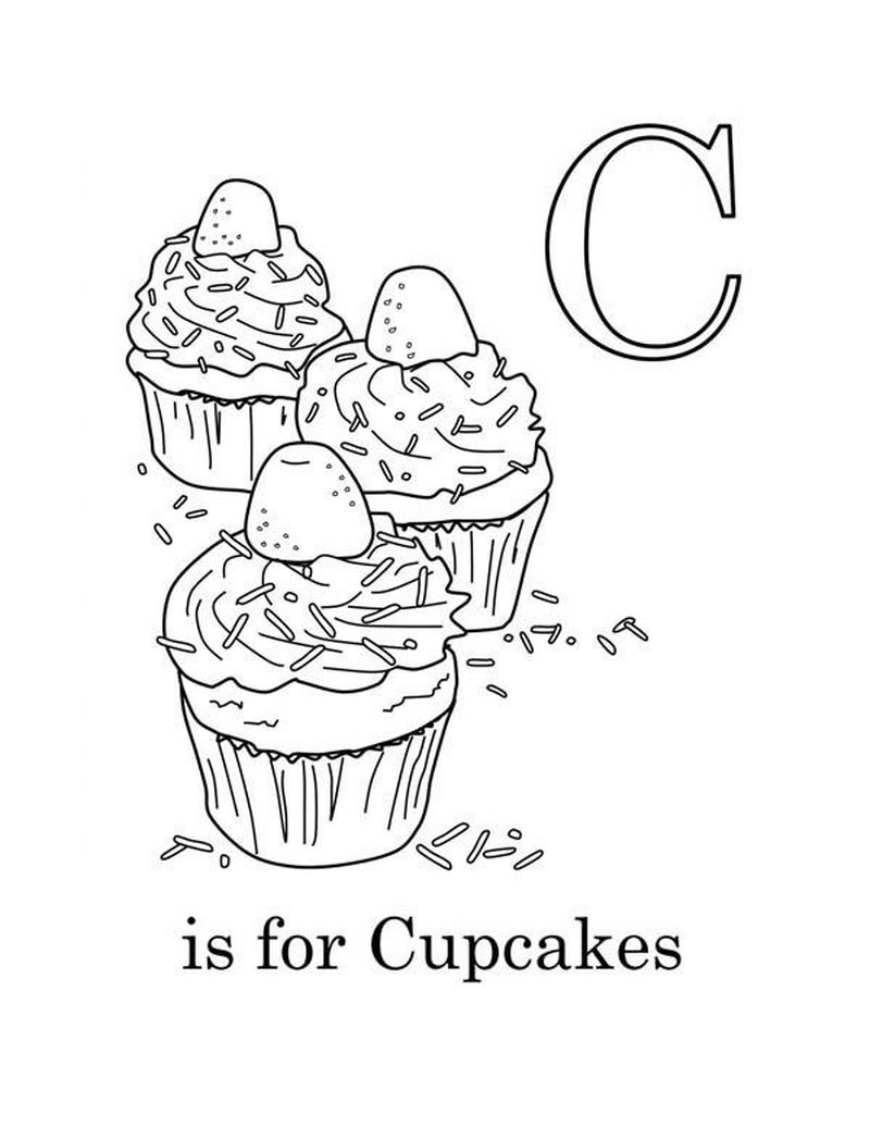 Cupcake For Adolts Coloring Pages