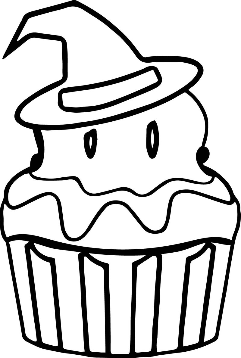 Cupcake Rack Coloring Pages