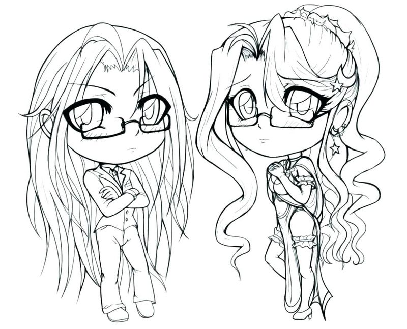 Cute Anime Girl Coloring Pages Bff