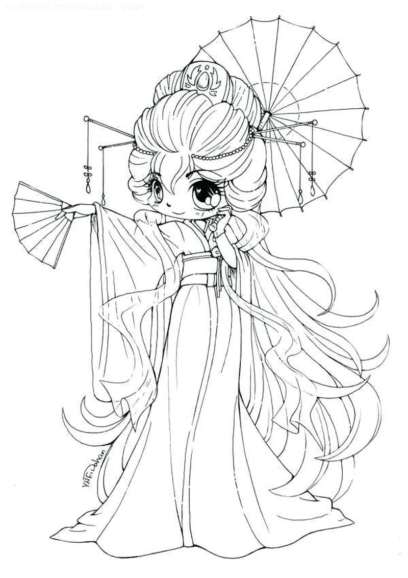 Cute Anime Girl Coloring Pages For Kids