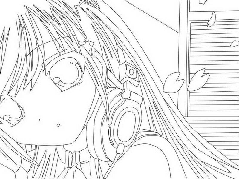 Cute Anime Girl Coloring Pages